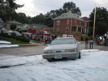 filming snow dressing scene  in Iowa
