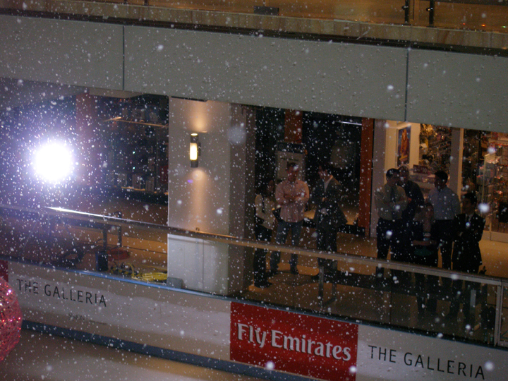 the galleria mall texas fake snow