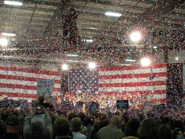 confetti cannons Political Rallies
