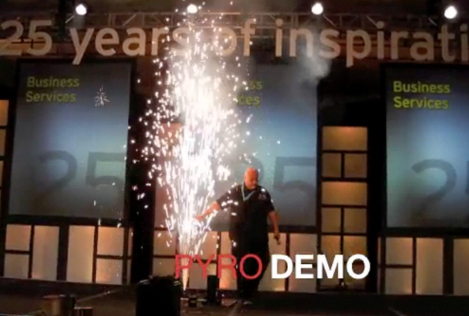 gerb demo indoor pyro