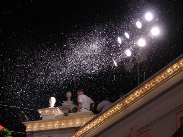 snow installed at disney