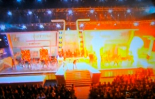 "Univision's ""Premio Lo Nuestro,"" The annual Latin music awards show 2011  special effects flames"