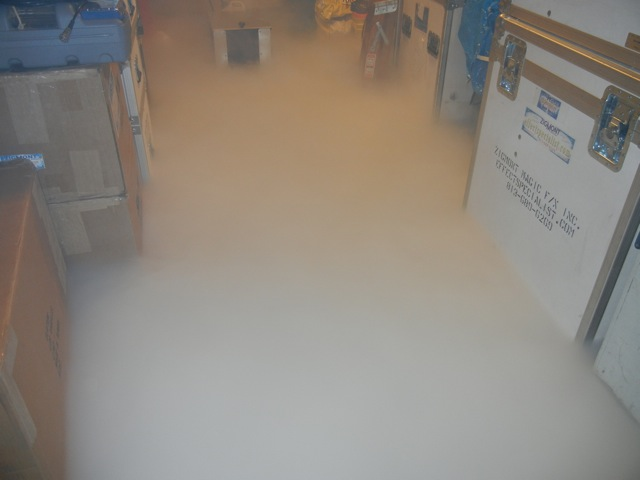 ice machine dry ice low lying smoke