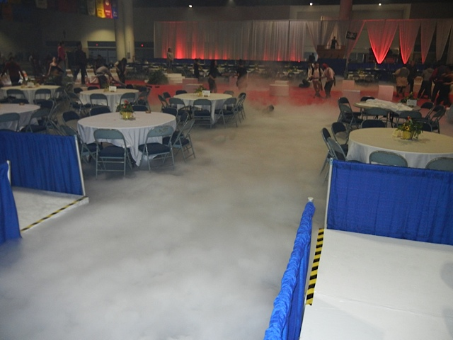 Low Fog Generator  at gasparilla 2012 coronation