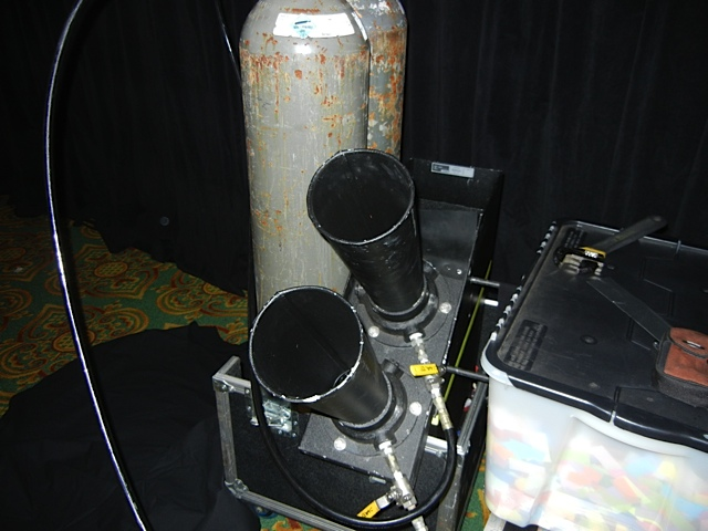 .The Continuous Blower set up in a ballroom for a corporate convention