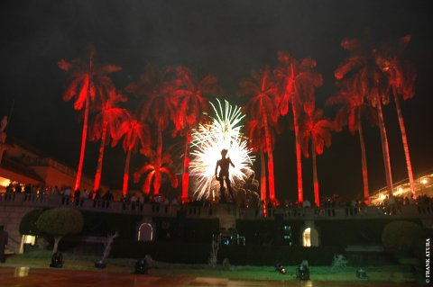 fireworks at ringling museum  display