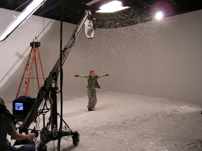 Special effects snow faux movie