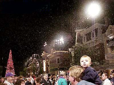 snow machines  at main street USA