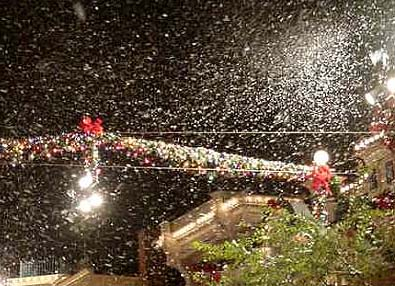 snow machines at disney