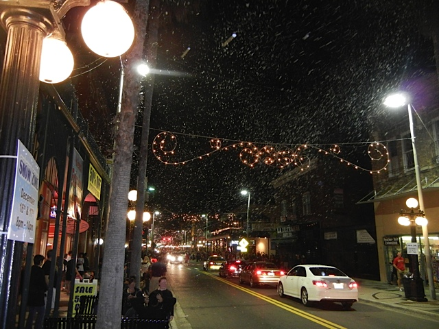 Ybor City snow machine event