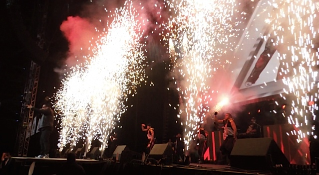 "Pyrotechnics and Propane Flames at ""People en Espanol Festival"" for Daddy Yankee"