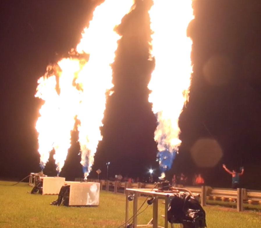 Special Effects Services : Propane Flames Effects Florida