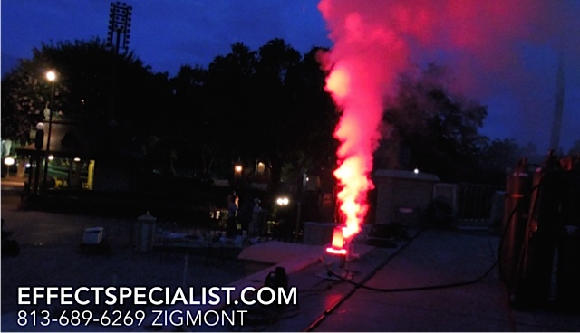 Red LED Cryo FX hanson pro co2 jets at Disney Demo Test