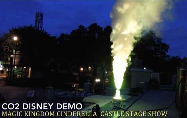 hanson cryo fx  co2 led jets at Disney demo test