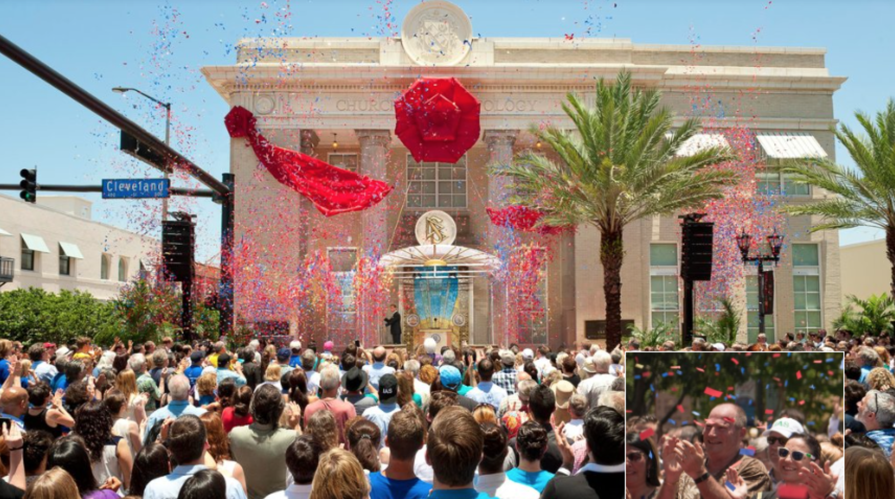 confetti cannona for Scientology in tampa