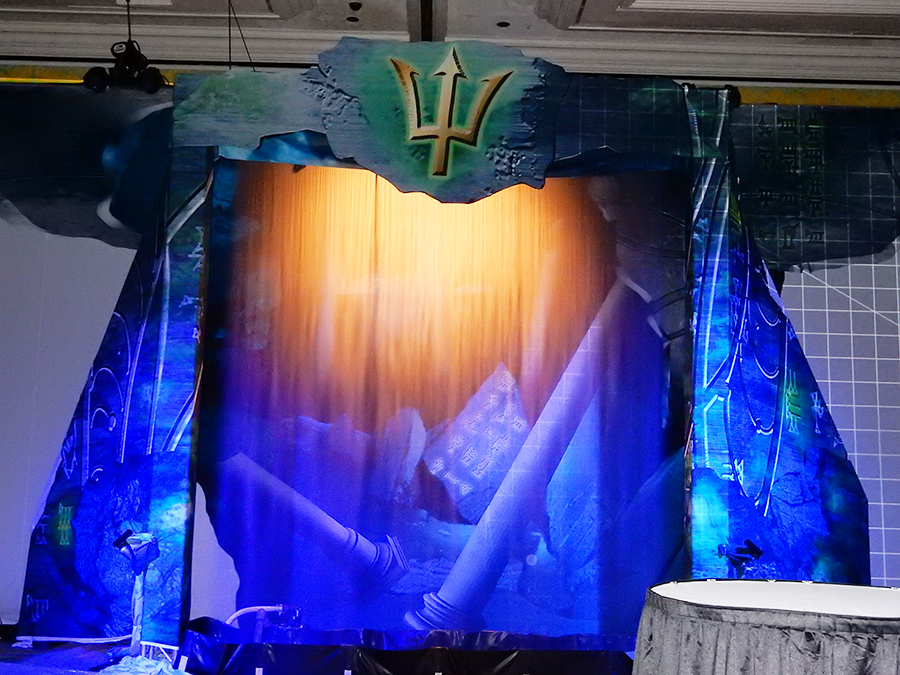 water video screen curtain