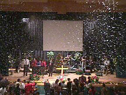 indoor special event snow machines