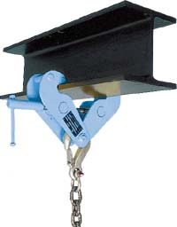 Beam clamp for snow machines