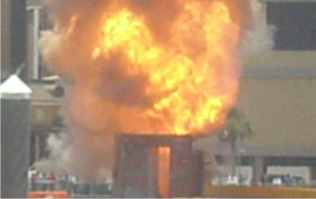 special effects florida bucket fire bomb
