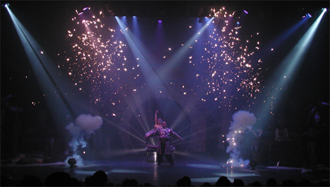 Theme park show with our pyro