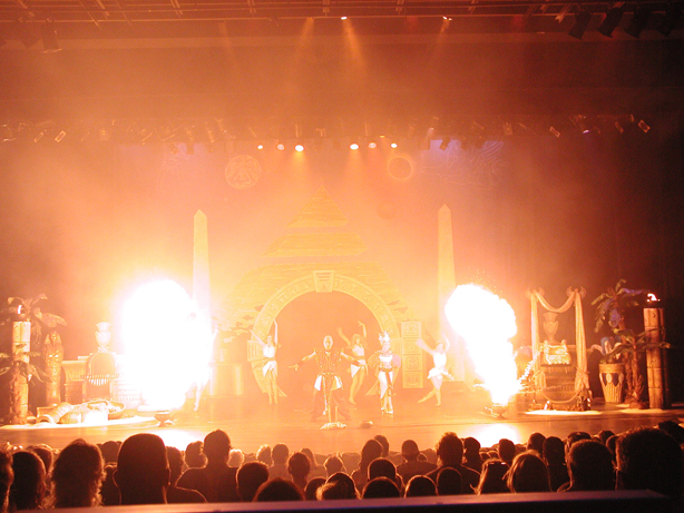 fireball at illusion show PKI