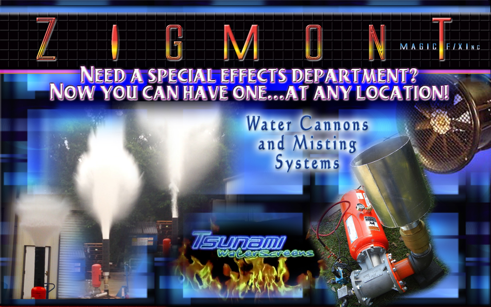special effects Water cannons and misiting systems
