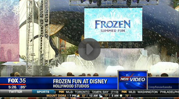 Disney Frozen news snow machines