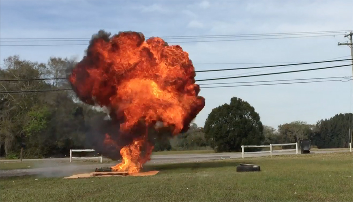 popper can Mapp hollywood movie explosions  special effects florida