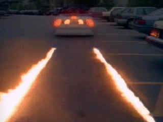 back to future tire burn
