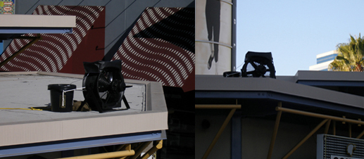 T 1500 on a malls roof