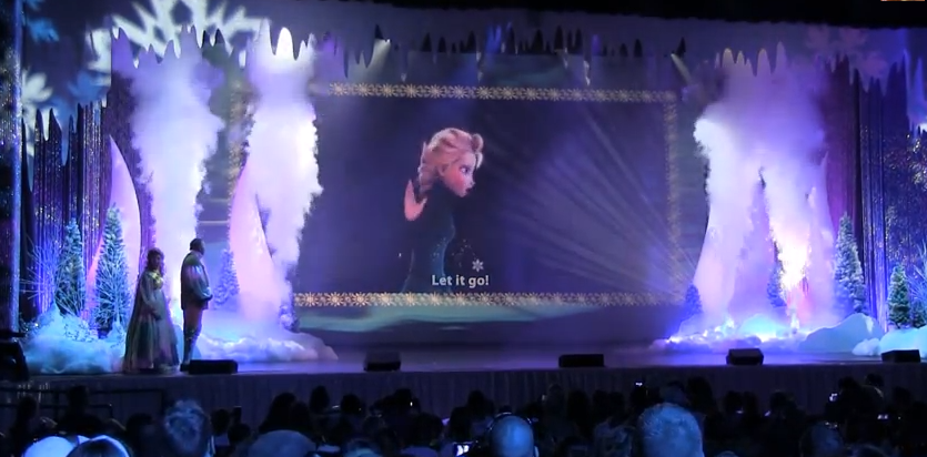 cryo co2 FX jets  at disney frozen stage show UE jets