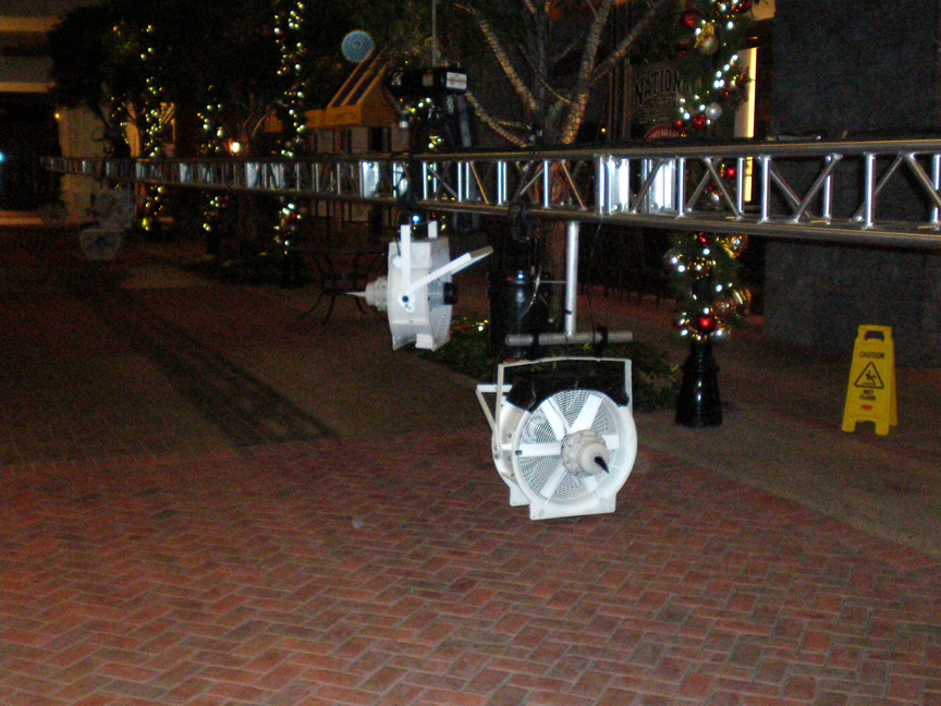 fake snow machines