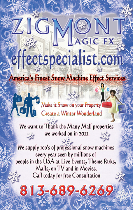 Snow machine for  mall